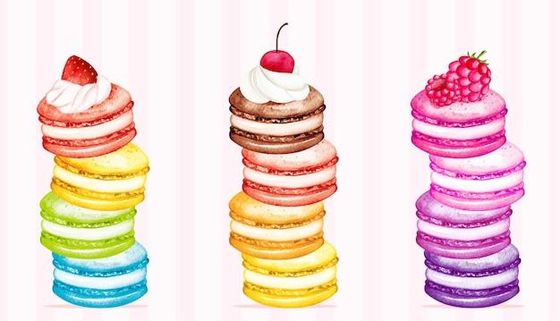 Акварельный набор macarons