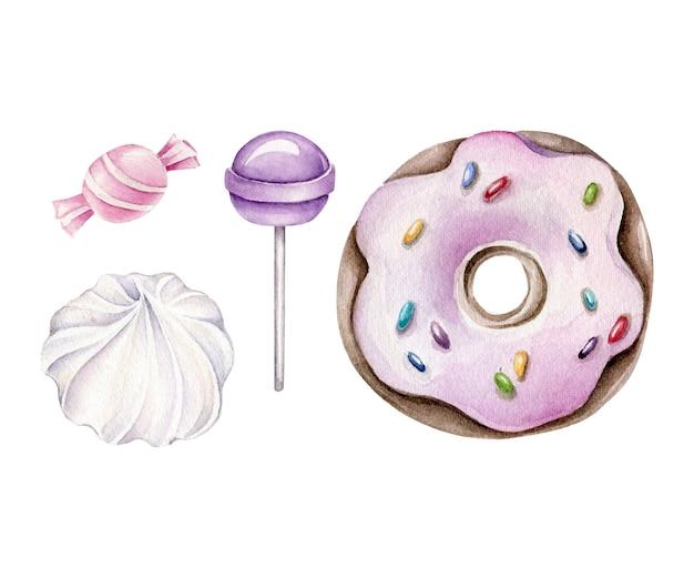Акварельный набор конфет.