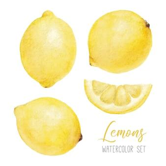 Акварельный набор с лимонами