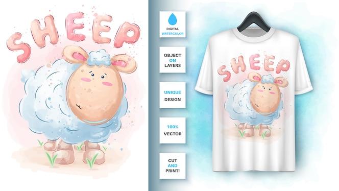 水彩羊-ポスターとマーチャンダイジング