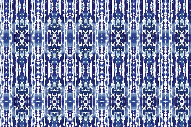 Watercolor shibori culture pattern