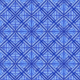 Watercolor shibori pattern Free Vector