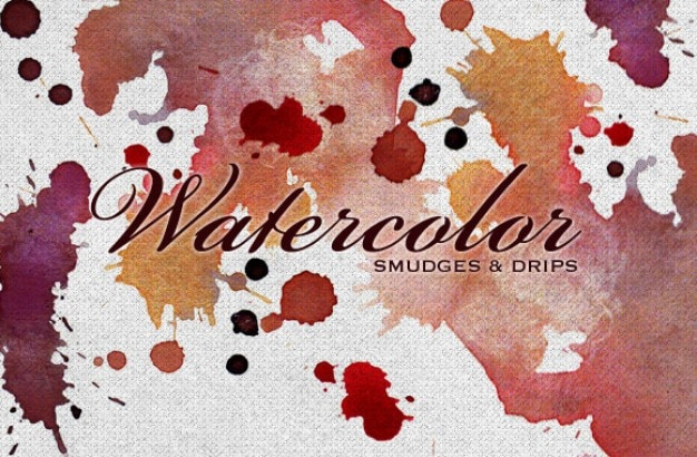 Watercolor smudges and drips
