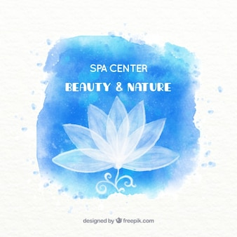 Watercolor spa center background