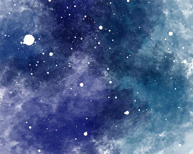 수채화 공간 배경 별이 빛나는 하늘 수채화 텍스처