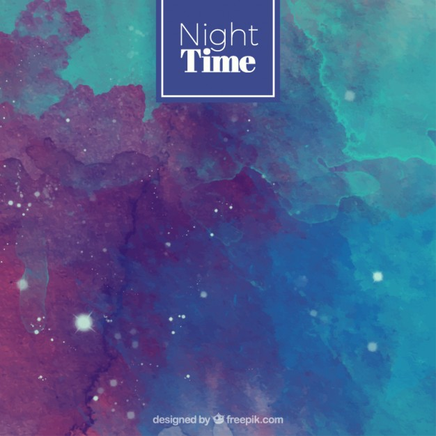 Watercolor space background