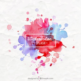 Watercolor splahes