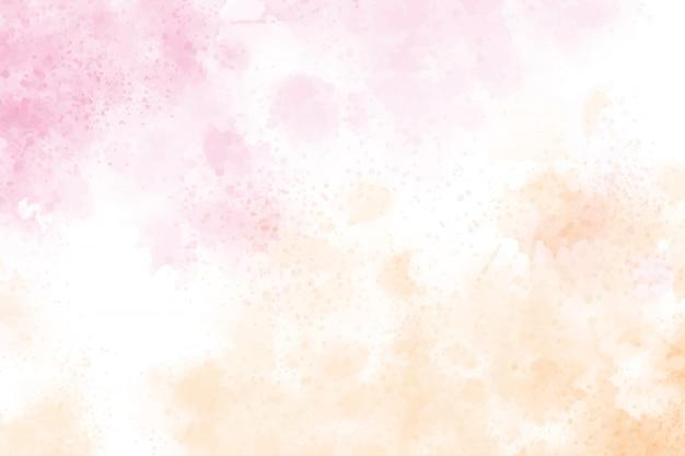 Акварель всплеск розово-золотой фон