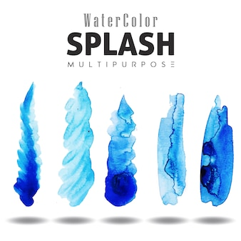 Watercolor Splashes Multipurpose Design