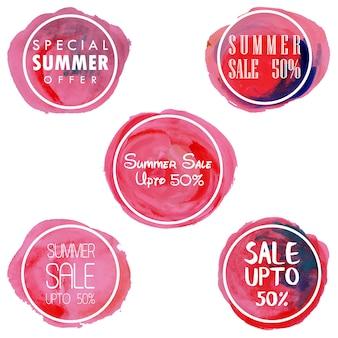 Watercolor splatter Sale Badges