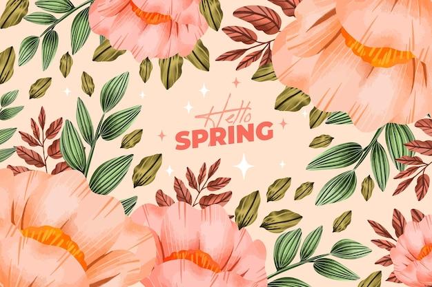 水彩の春の背景の概念