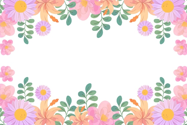 Watercolor spring background with empty space
