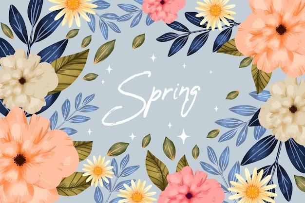 수채화 봄 배경
