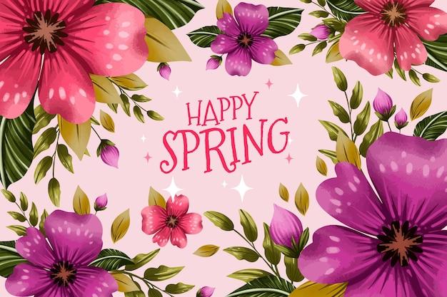 水彩の春の背景