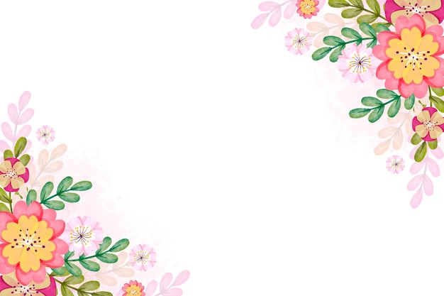 Watercolor spring concept for background