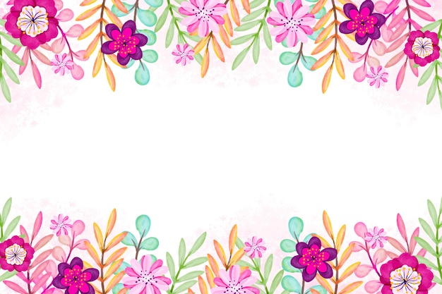 Watercolor spring design for background