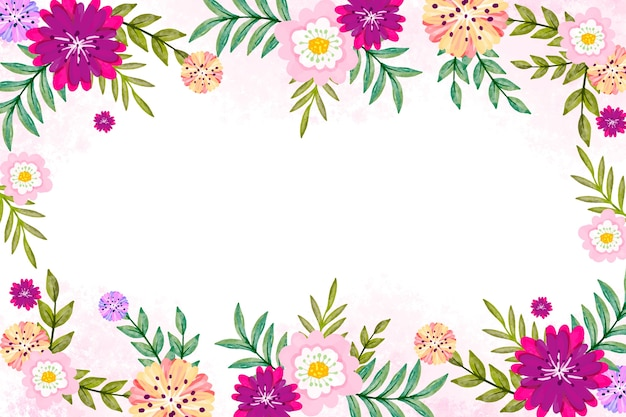 Watercolor spring design for wallpaper