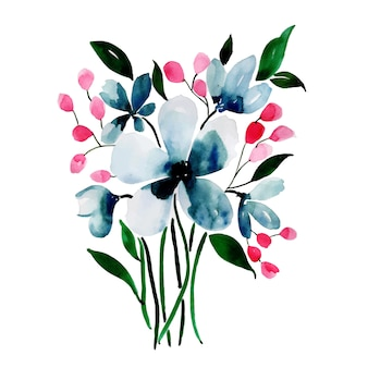 Watercolor Spring Floral Element