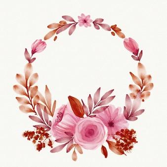水彩春花のフレーム