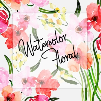 Watercolor Spring Floral Multipurpose Background