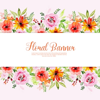Watercolor Spring Floral Multipurpose Banner Collection