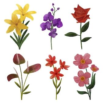 水彩春の花コレクション