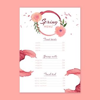 Watercolorspring menu