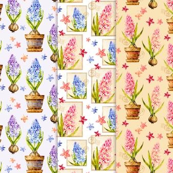 Collezione modello primavera dell'acquerello
