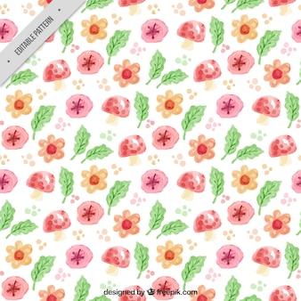 수채화 봄 패턴