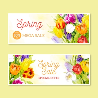 Watercolor spring promotional sale