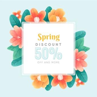 귀여운 꽃으로 수채화 봄 판매