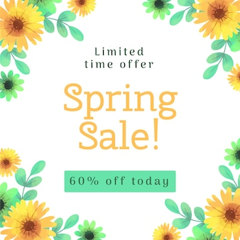 Watercolor spring sale