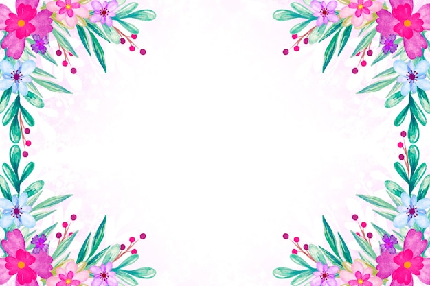Watercolor spring theme for background