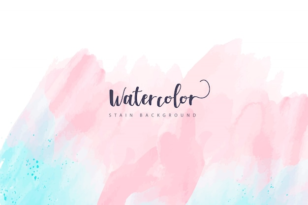 Watercolor stain background in pastel tones