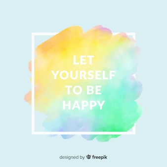Watercolor stain background with quote