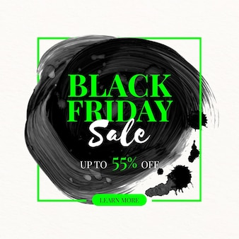 Watercolor stain black friday banner