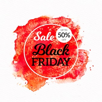 Watercolor stain black friday sale banner