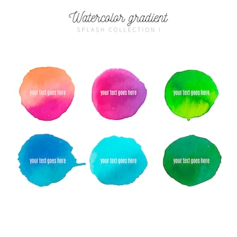 Watercolor stain collection with modern colors