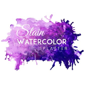 Watercolor stain spot splatters