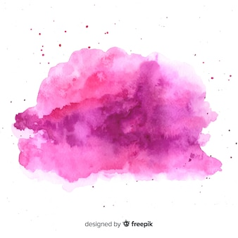 Watercolor stain with abstract shape