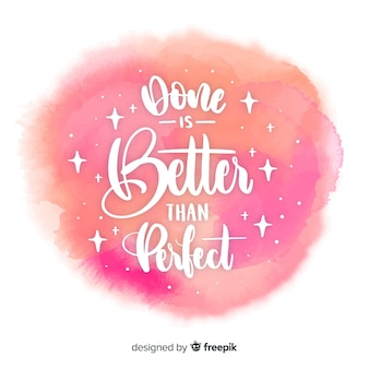 Watercolor stain with calligraphic quote background