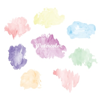 Watercolor stains collection