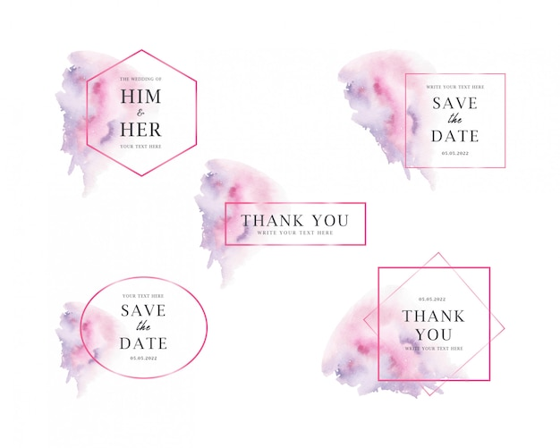 Watercolor stains wedding collections
