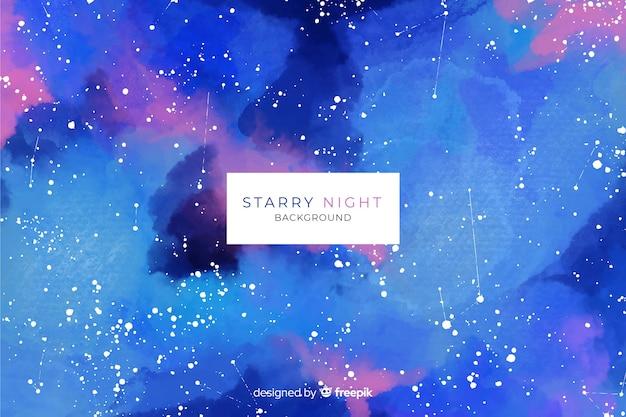 수채화 별이 빛나는 밤 배경