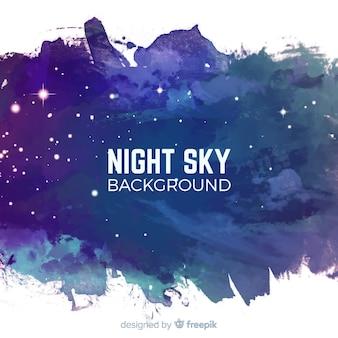 Acquerello sfondo stellato di notte