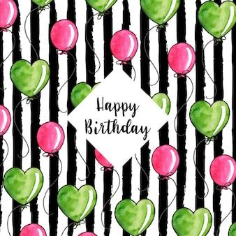 Watercolor strip birthday background
