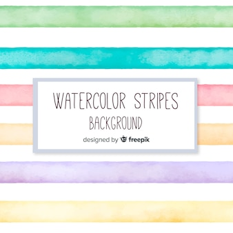 Watercolor stripes background