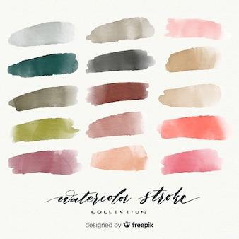 Watercolor stroke collection