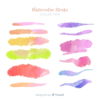 Watercolor stroke collection