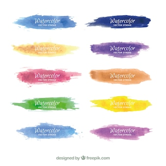 Watercolor strokes collection